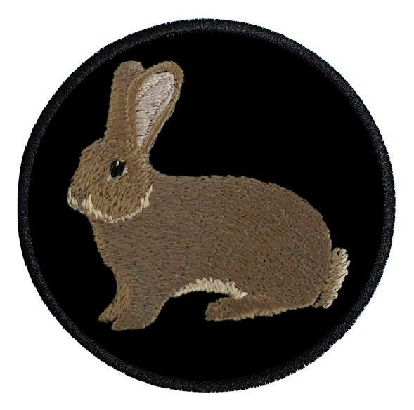Kaninchen Deutsche Riesen wildfarbig ... Aufnäher Patch 8 cm (2009)