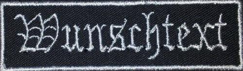 Namensschild Wunschtext gestickt Namensband Aufnäher Patch 8cm (10) blau