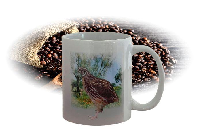Kaffeetasse Tasse Japanische Legewachtel wildfarbig T11