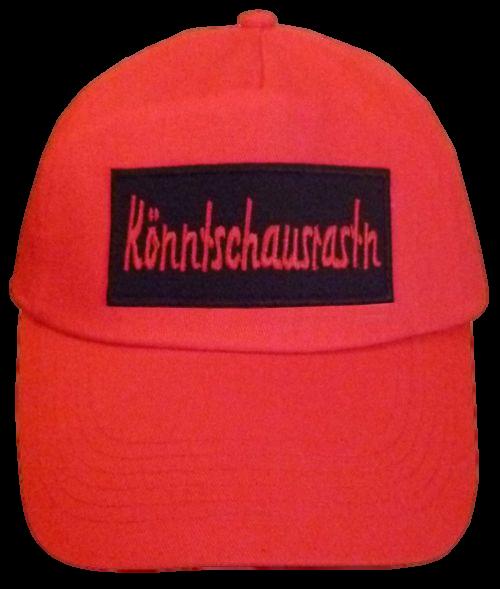 Basecap Cap bestickt ...Könntschausrastn... in rot  (756)