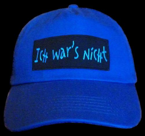 Basecap Cap bestickt .. Ich wars nicht... blau (749-1)