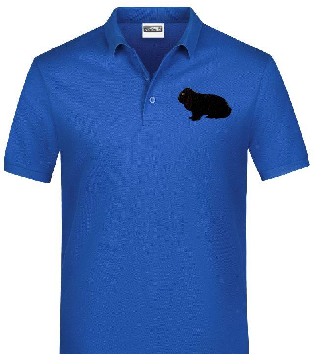 Polo-Shirt bestickt mit Deutscher Widder schwarz P2038 anthrazit 3XL