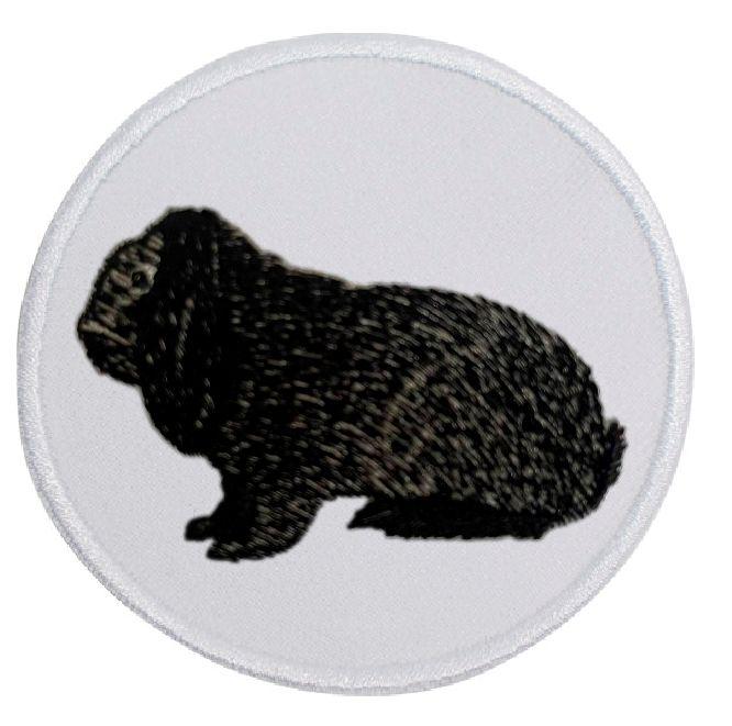 Kaninchen Deutscher Widder eisengrau ... Aufnäher Patch 8 cm (2013)