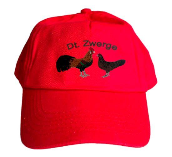 Basecap Cap bestickt .. Deutsche Zwerghühner MB2007 grau