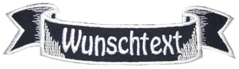 Aufnäher Patch 15 cm Wunschtext z.B. Firma Verein Name Bike (6) blau