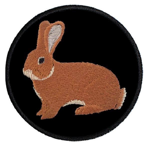 Kaninchen Deutsche Riesen gelb ... Aufnäher Patch 8 cm (2011)