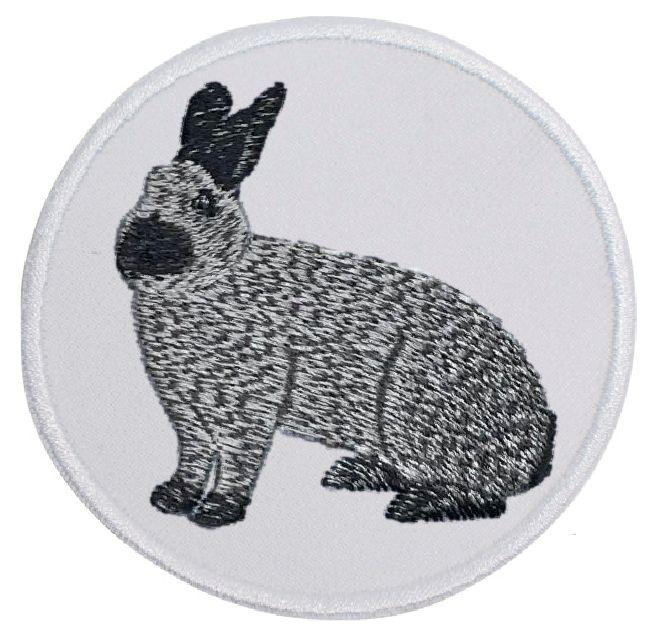 Kaninchen Champagne Silber ... Aufnäher Patch 8 cm (2016)
