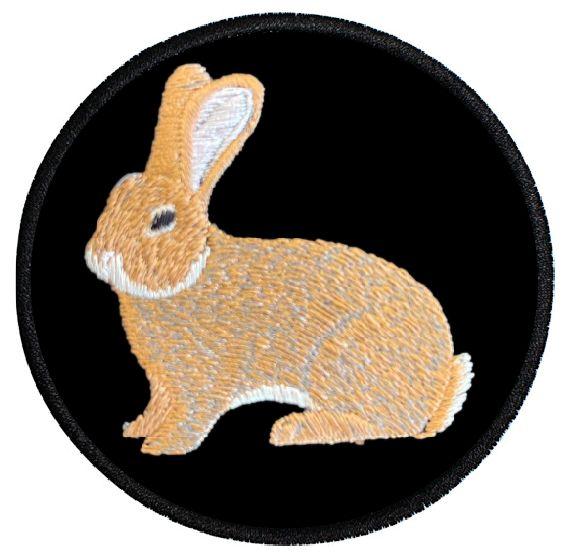 Kaninchen Deutsche Riesen gelb ... Aufnäher Patch 8 cm (2008)