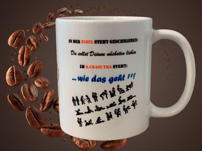 Fun Kaffeetasse In der Bibel steht geschrieben ...  Tasse T4