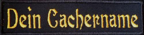 Dein Cachername Geocaching .... Aufnäher Patch 12x3 cm (864) grün