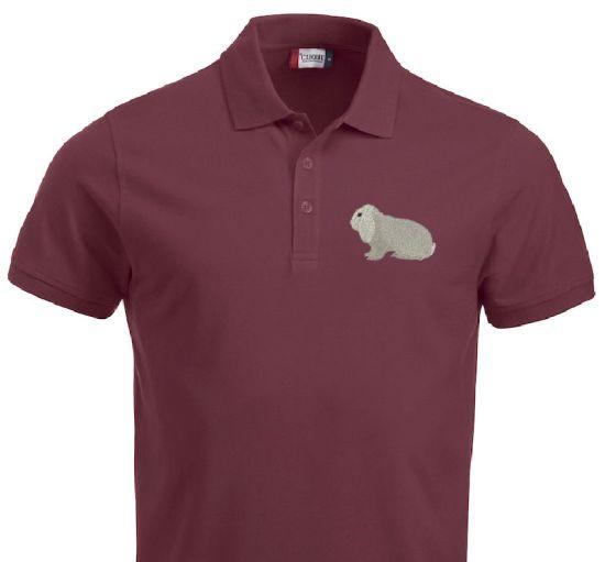 Polo-Shirt bestickt mit Deutscher Widder weiß B/A P2034 anthrazit 3XL