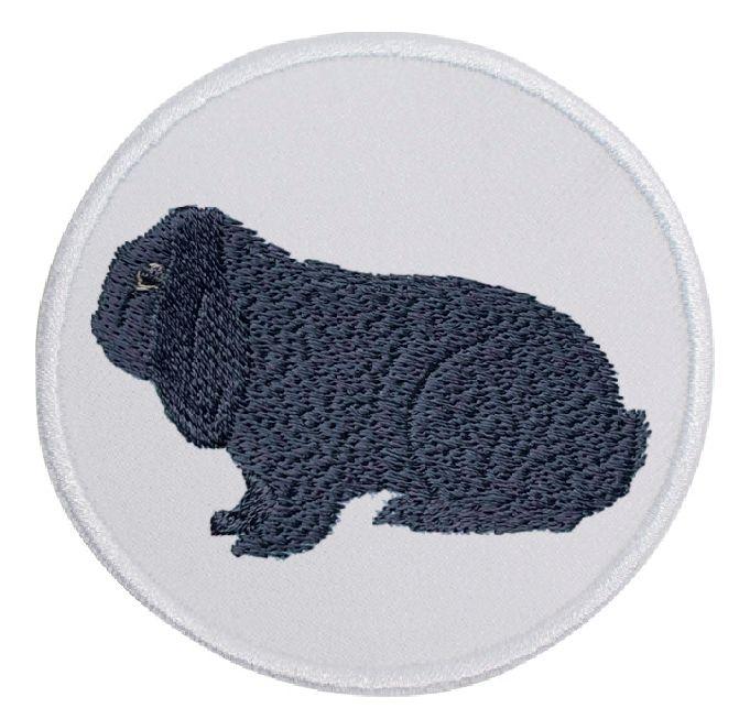 Kaninchen Deutscher Widder blau ... Aufnäher Patch 8 cm (2014)