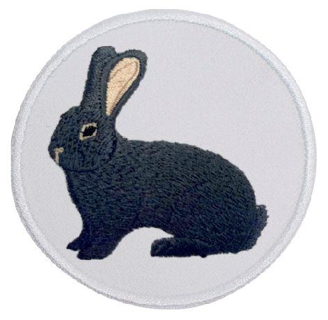 Kaninchen Deutscher Riese blau ... Aufnäher Patch 8 cm (2026)