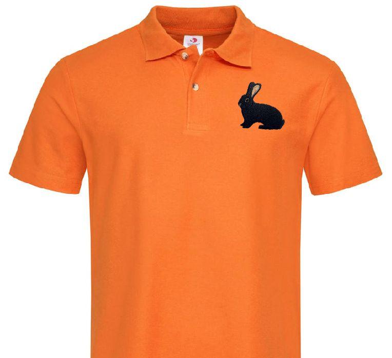 Polo-Shirt bestickt mit Deutscher Riese schwarz P2026 anthrazit 3XL