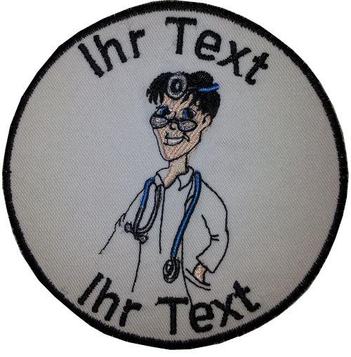 Arzt  Kinderarzt Aufnäher mit Wunschtext  Verein Patch 10cm (660)