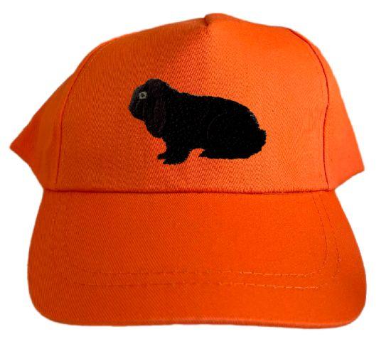 Basecap bestickt .. Kaninchen Dt. Widder schwarz MB2038 grau