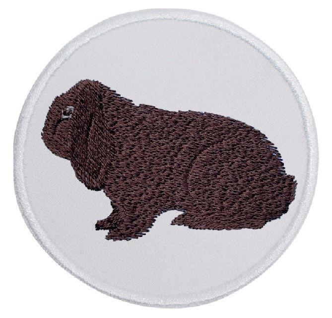 Kaninchen Deutscher Widder havannafarbig ... Aufnäher Patch 8 cm (2022)