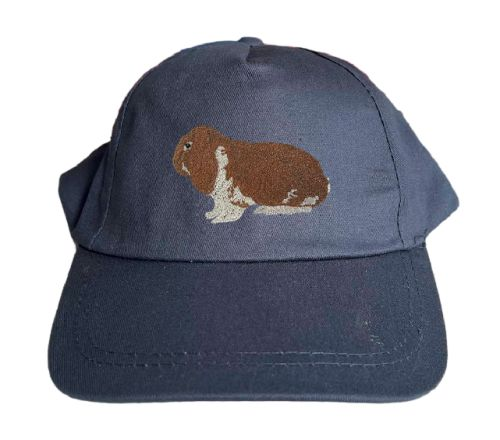 Basecap bestickt .. Kaninchen Dt Widder wildfarbig-weiß MB2033 grau