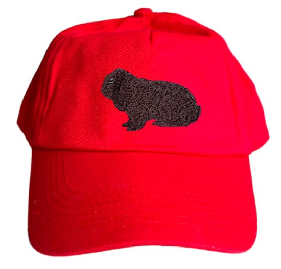 Basecap Cap bestickt .. Kaninchen Deutscher Widder havannafarbig MB2022 grau