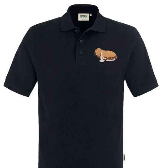 Polo-Shirt bestickt mit Dt. Widder thüringer weiß P2024 anthrazit 3XL