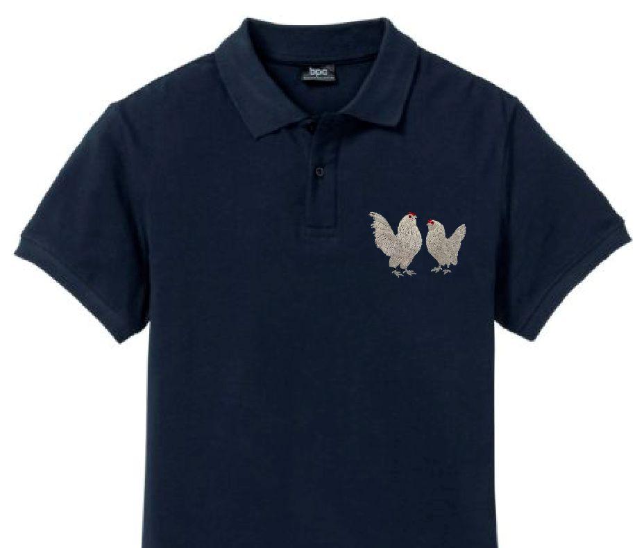 Polo-Shirt bestickt mit Antwerpener Bartzwerge perlgrau P2004 anthrazit 3XL