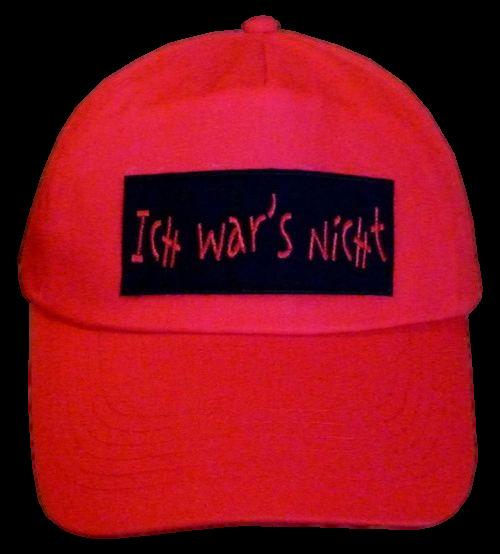 Basecap Cap bestickt .. Ich wars nicht rot... (749)