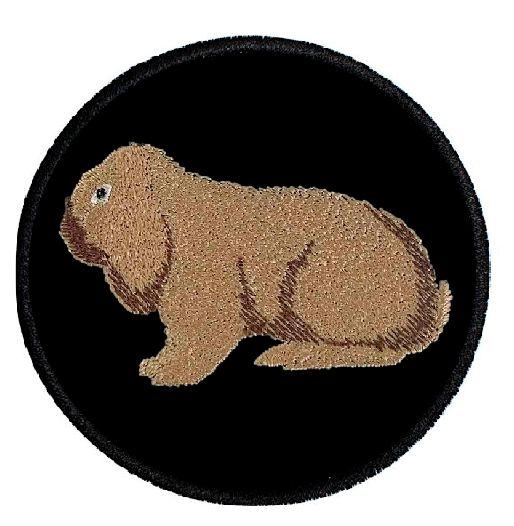 Kaninchen Deutscher Widder thüringerfarbig ... Aufnäher Patch 8 cm (2032)