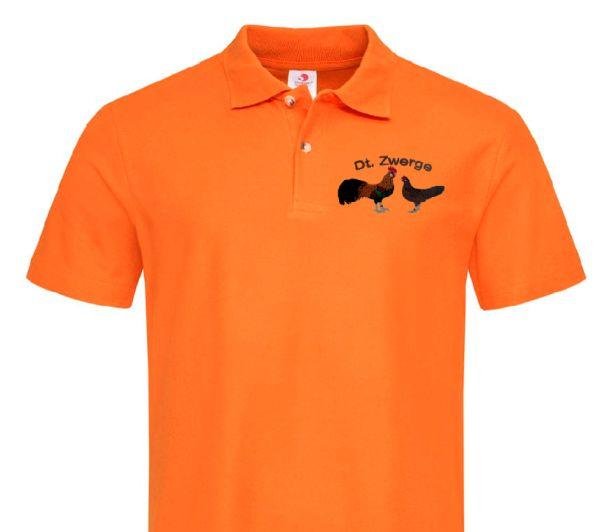 Polo-Shirt bestickt mit Deutsche Zwerghühner P2007 anthrazit 3XL